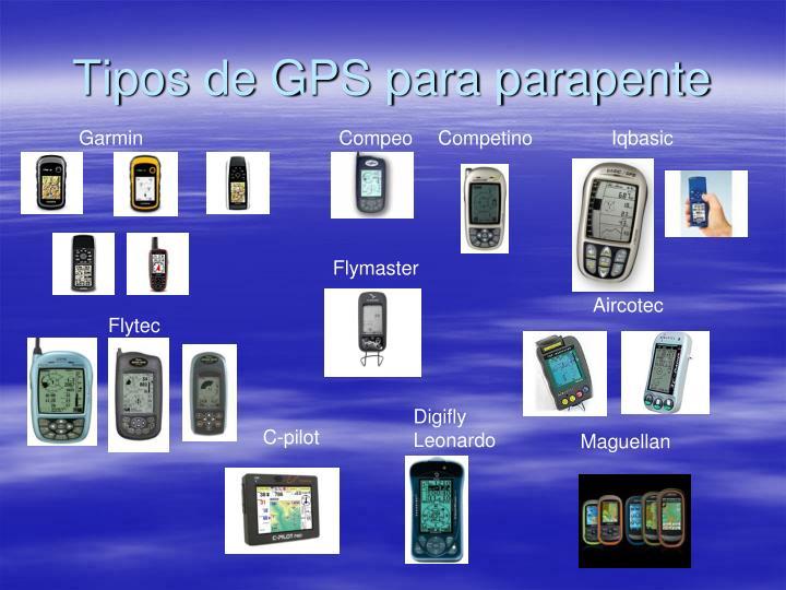 Tipos de GPS para parapente