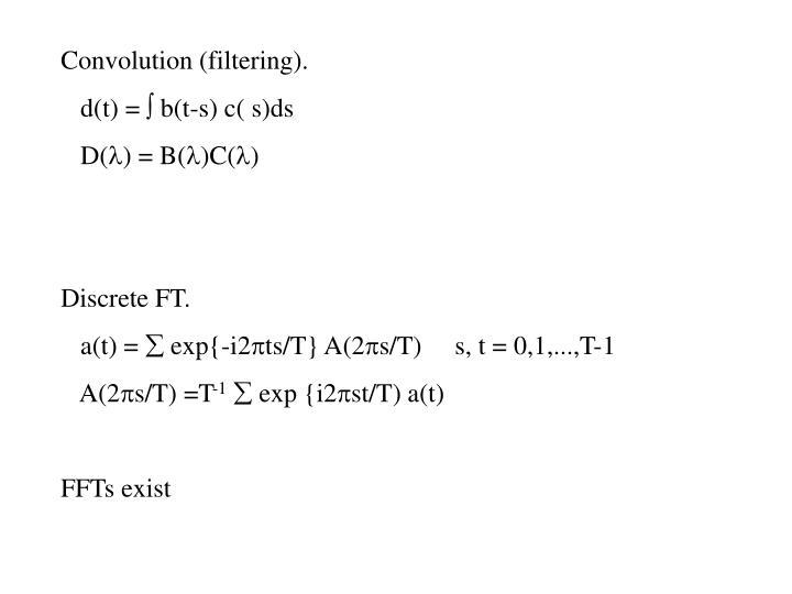 Convolution (filtering).