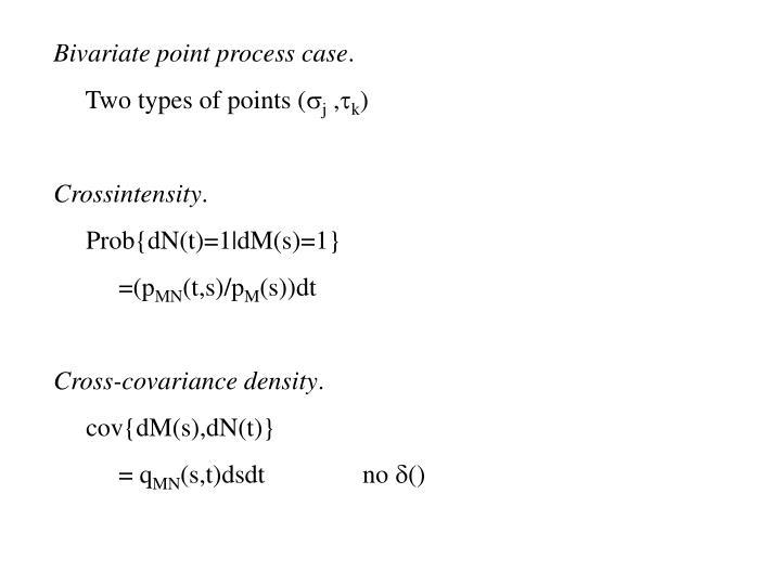 Bivariate point process case