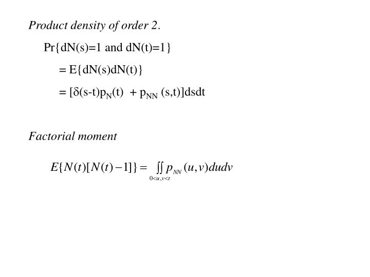 Product density of order 2