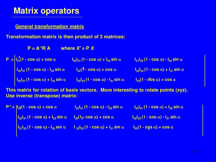 Matrix operators