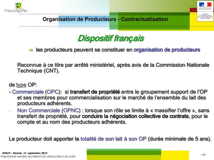 Organisation de Producteurs - Contractualisation