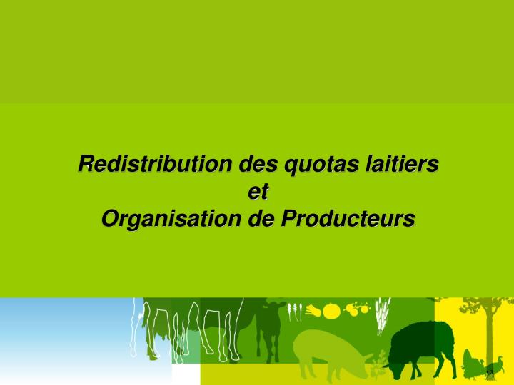 Redistribution des quotas laitiers
