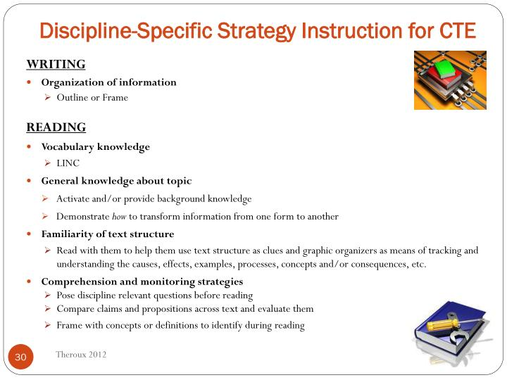 Discipline-Specific Strategy Instruction for CTE