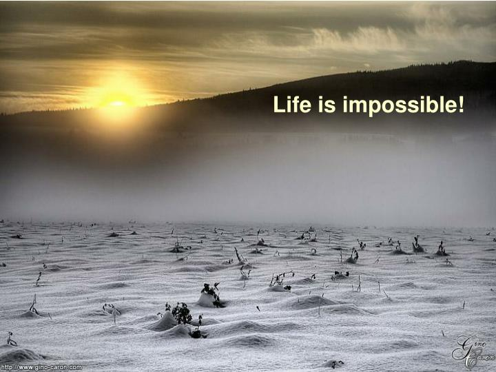 Life is impossible!