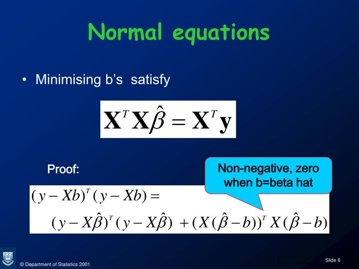 Normal equations