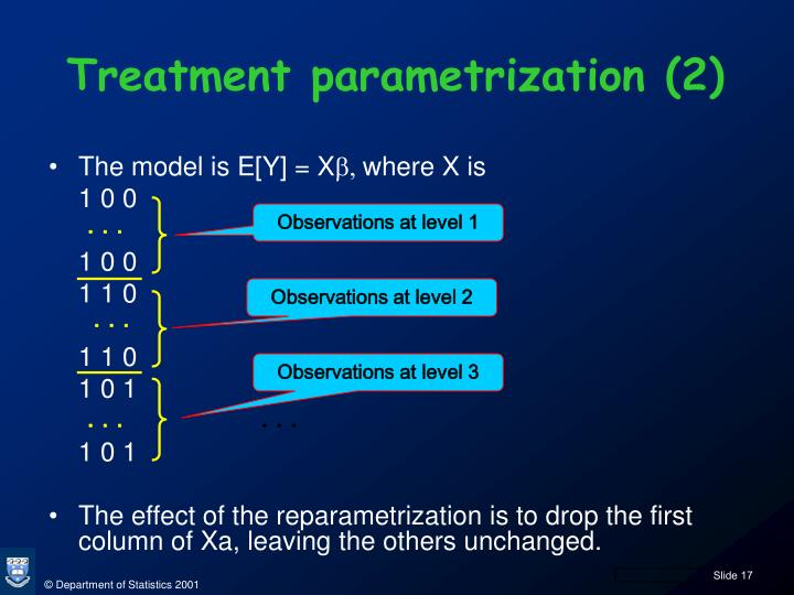 Treatment parametrization (2)