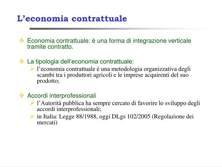 L'economia contrattuale