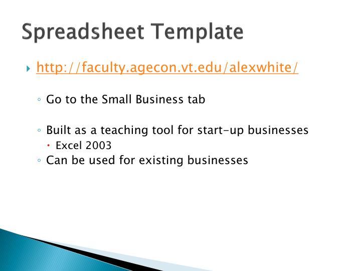 Spreadsheet Template