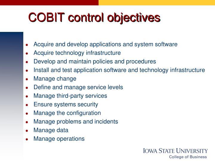 COBIT control objectives