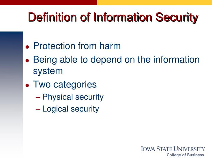 Definition of Information Security