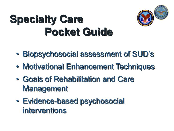 Specialty care pocket guide