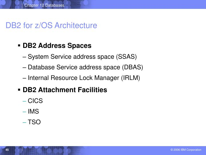 DB2 for z/OS Architecture