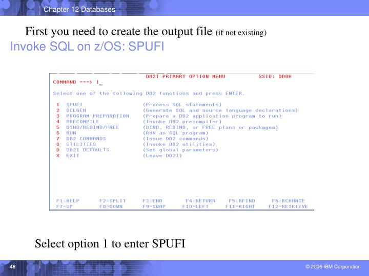 First you need to create the output file