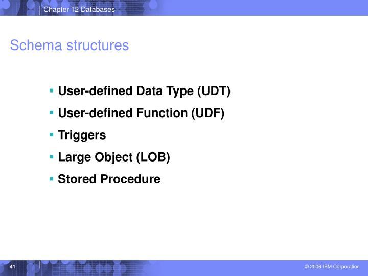 Schema structures