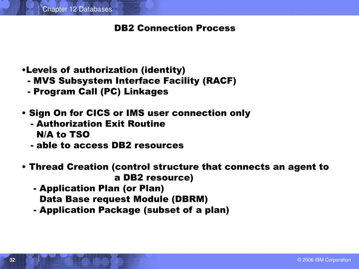 DB2 Connection Process