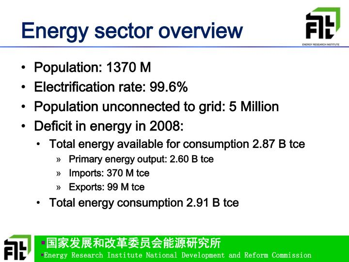 Energy sector overview