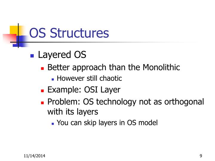 OS Structures