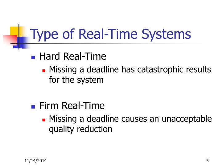 Type of Real-Time Systems
