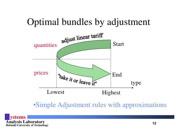 Optimal bundles by adjustment