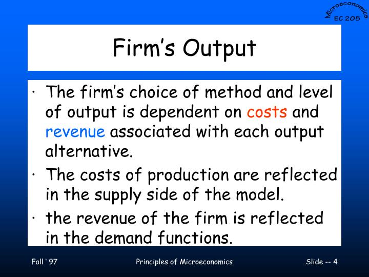 Firm's Output