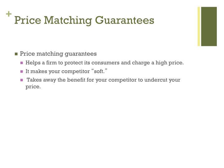 Price Matching Guarantees
