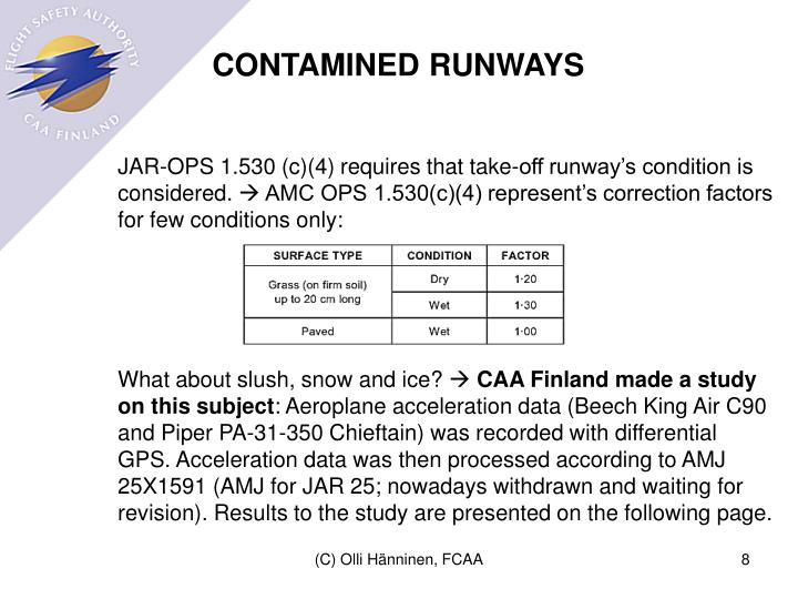 CONTAMINED RUNWAYS