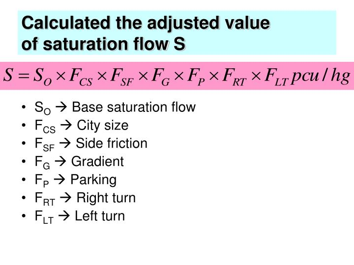 Calculated the adjusted value