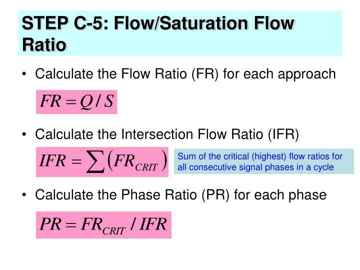 STEP C-5: Flow/Saturation Flow Ratio