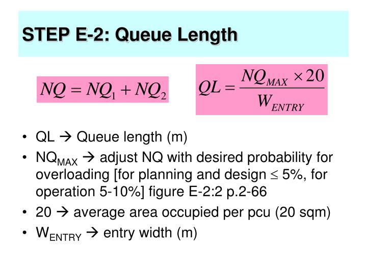 STEP E-2: Queue Length