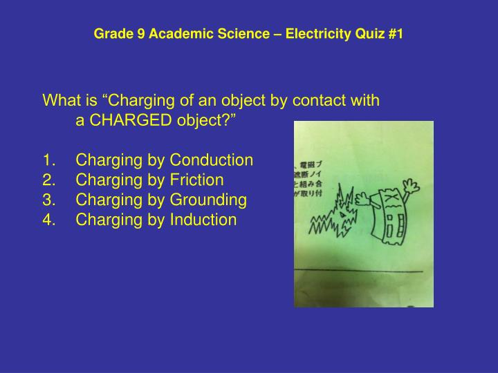 Grade 9 academic science electricity quiz 12