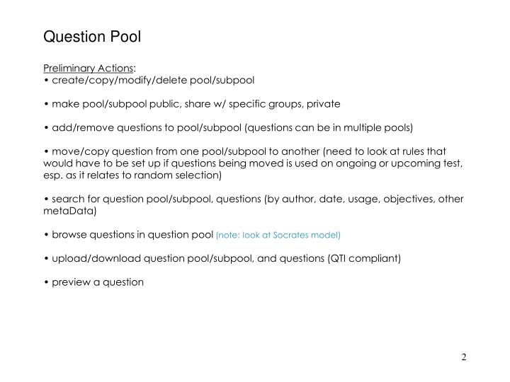 Question pool1