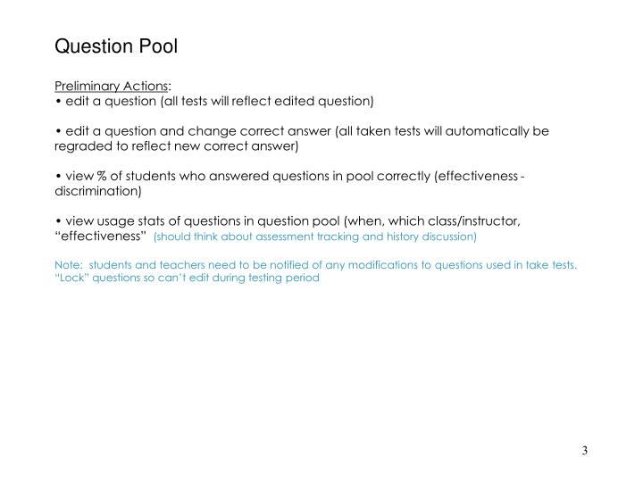 Question pool2