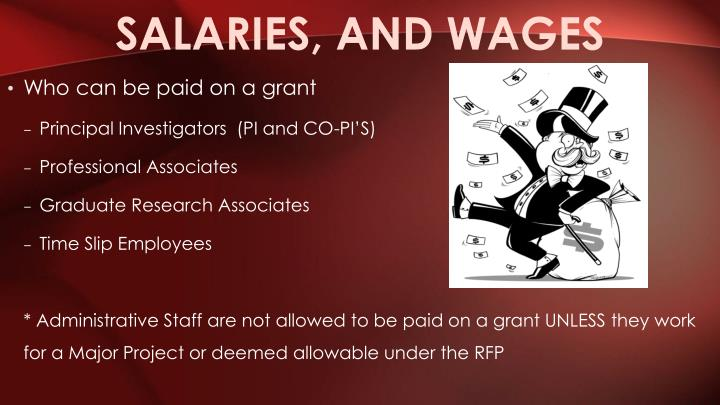 Salaries, and wages