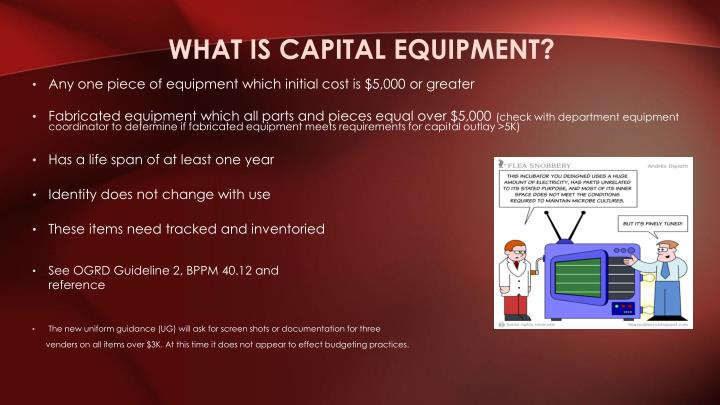 What is Capital Equipment?