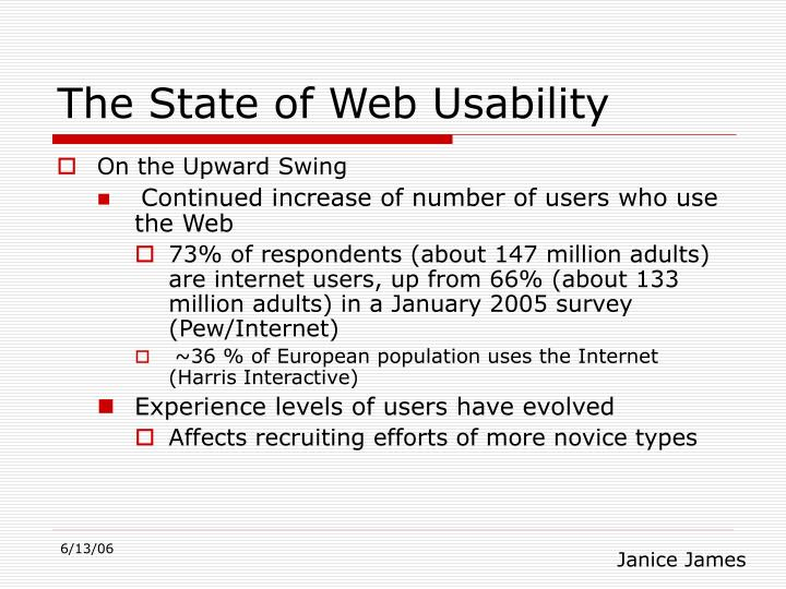 The State of Web Usability