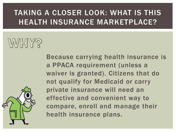 Taking a closer look what is this health insurance marketplace