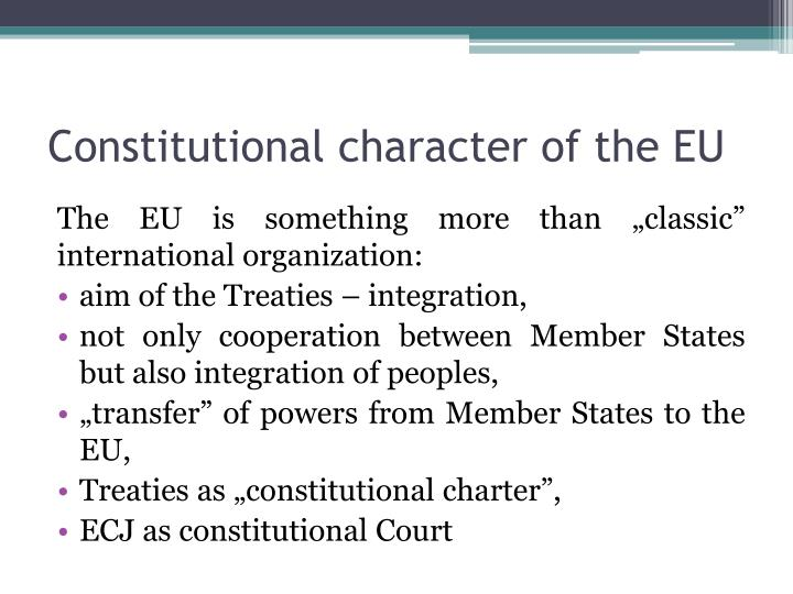 Constitutional character of the EU