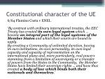 constitutional character of the ue1