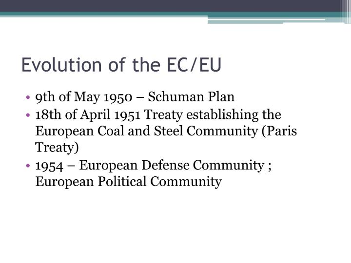 Evolution of the EC/EU