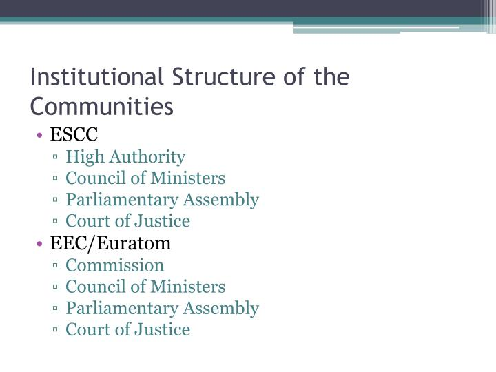 Institutional Structure of the Communities