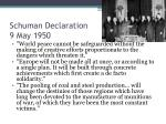 schuman declaration 9 may 1950
