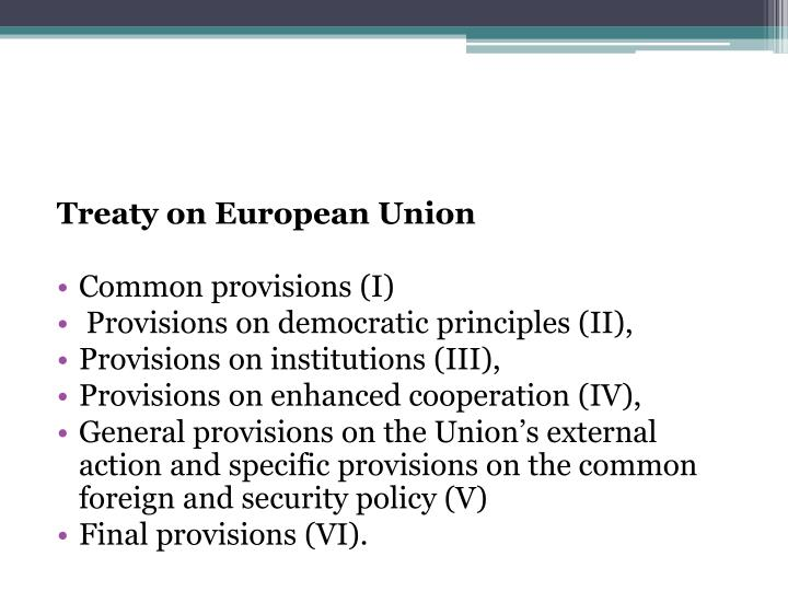 Treaty on European Union