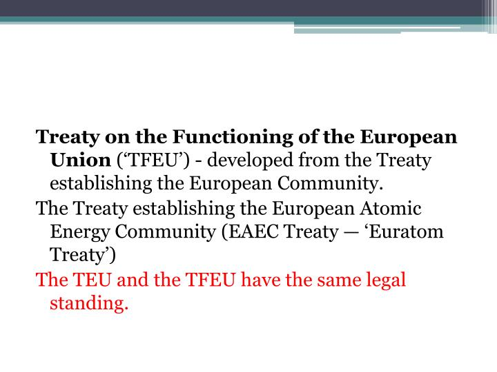 Treaty on the Functioning of the European Union