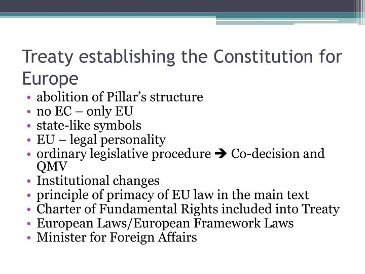 Treaty establishing the Constitution for Europe