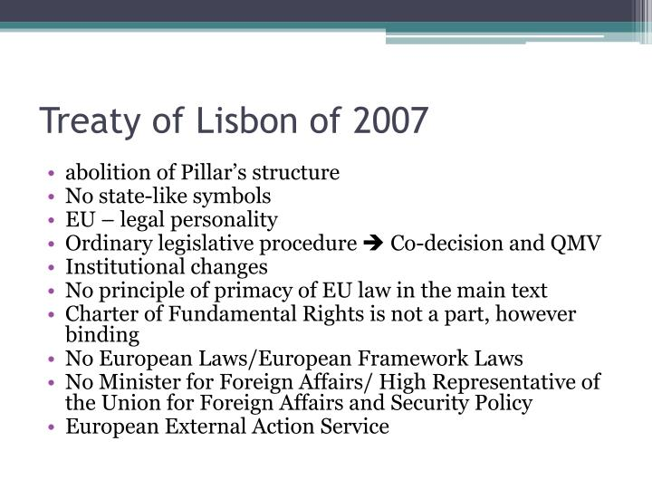 Treaty of Lisbon of 2007