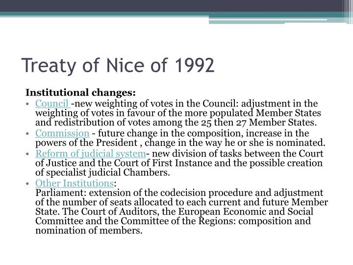 Treaty of Nice of 1992