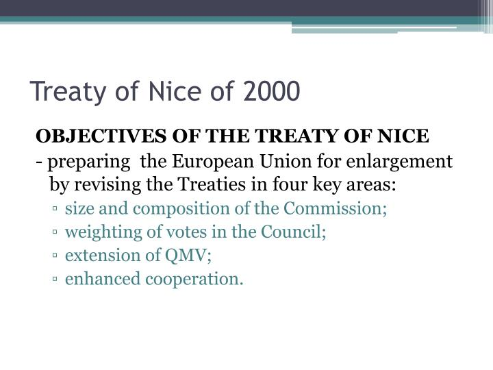 Treaty of Nice of 2000