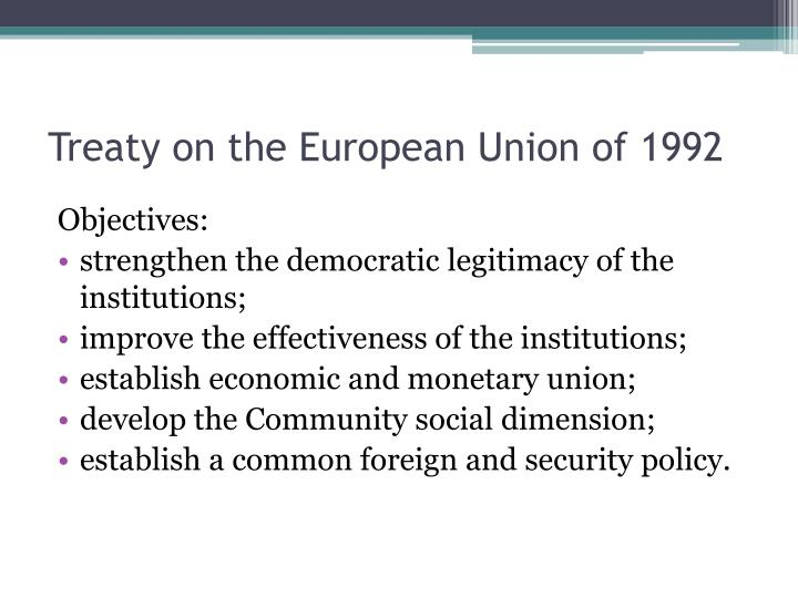 Treaty on the European Union of 1992