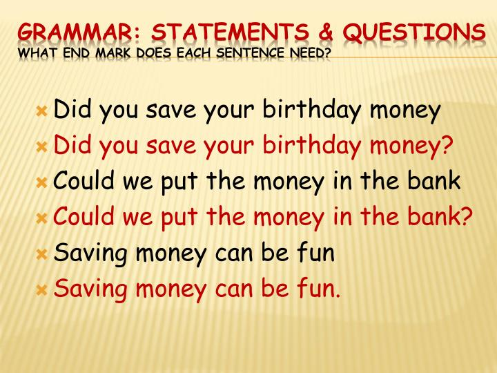 Did you save your birthday money